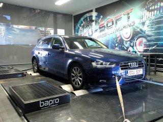 Maatwerk Chiptuning Audi A4 2.0  TDI 136 pk en 320 nm stage 1 186 pk en 415 nm