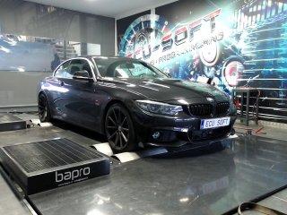 Maatwerk Chiptuning BMW 420i 2017 ori 184 en 270 Nm mod 261,9 en 422,7 Nm