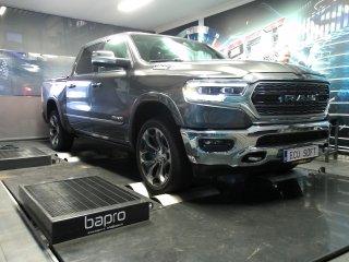 Maatwerk Chiptuning Dodge Ram 5,7 hemi 400 pk en 550 nm mod 430,9 pk en 598 Nm