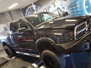 Maatwerk Chiptuning Dodge Ram 5,7 hemi ori 390 pk 552 Nm 2011 mod 411,2 pk en 582,4 nm